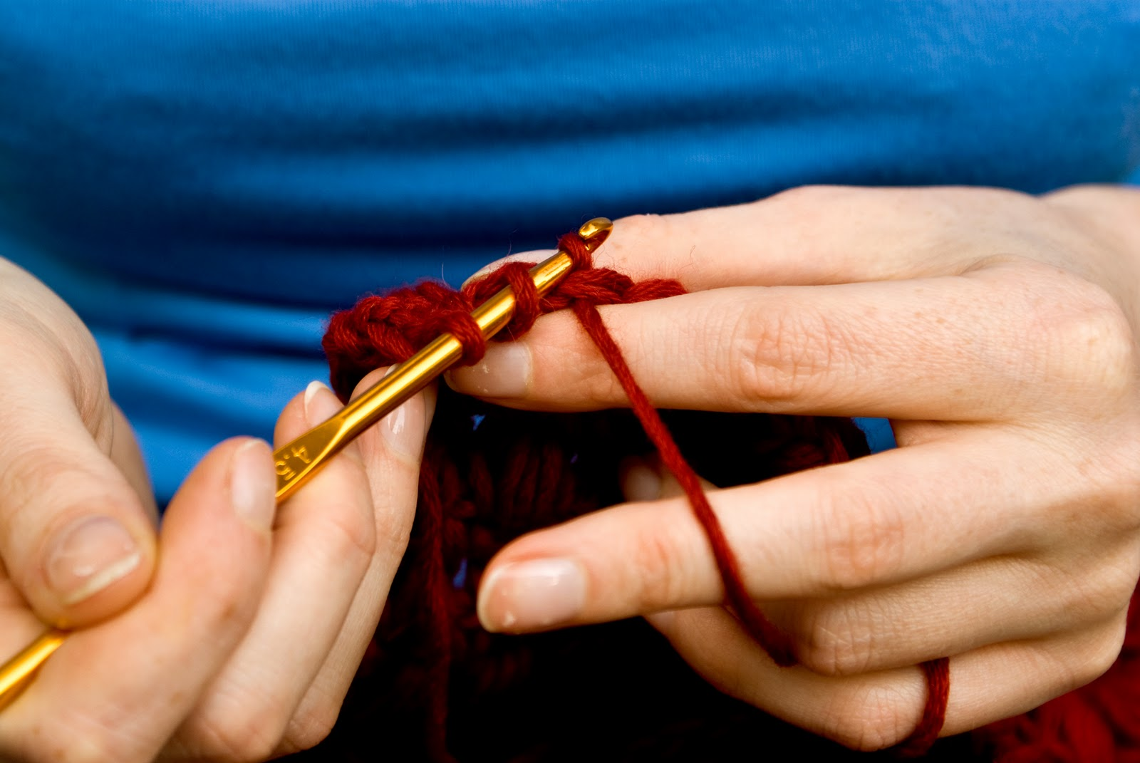 Crocheting With Hands : crochet-hands