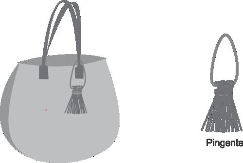 Bolsa cinza com Fio de malha